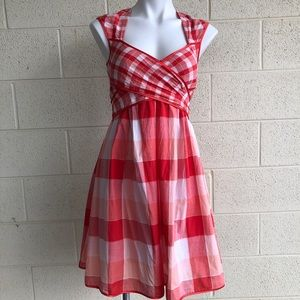 Jessica Simpson Red Checked Summer Dress W/ Bow
